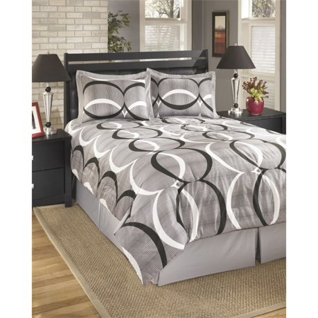 Ashley primo queen comforter set in alloy for Meuble ashley circulaire