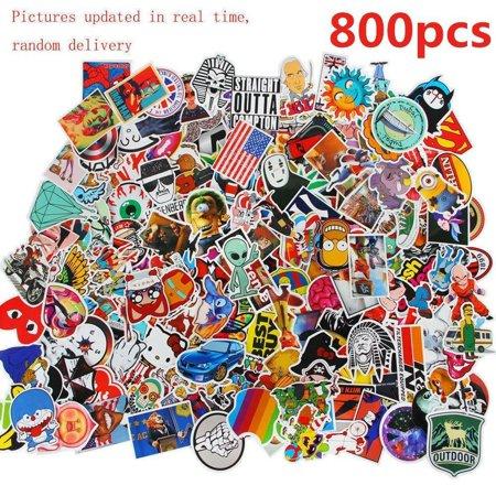 800 pcs Laptop Waterproof stickers in a set Stickerbomb Tuning Bumper Sticker Style Random Vinyl Decals Graffiti Stickers (Name Laptop Stickers)