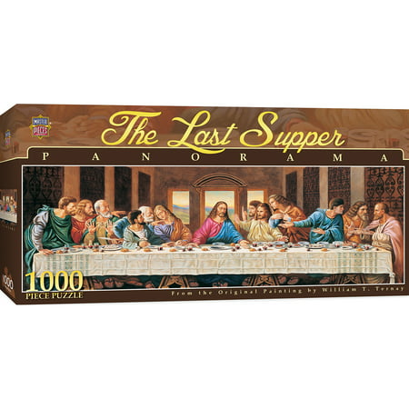 Inspirational The Last Supper 1000 Piece Panoramic Jigsaw Puzzle ()