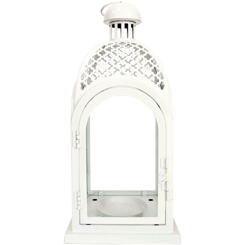 Better Homes and Gardens Metal Lantern, White by