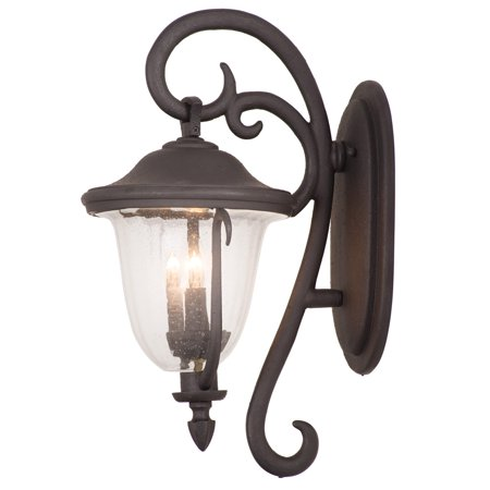 Wall Sconces 4 Light With Textured Matte Black Finish Candelabra Base Bulb 16 inch 160 Watts 160 Series Wall