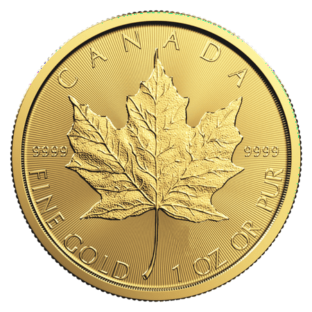 Canadian Gold Maple Leaf 1 oz Coin - Random Year Sacagawea Golden Dollar 2 Coin