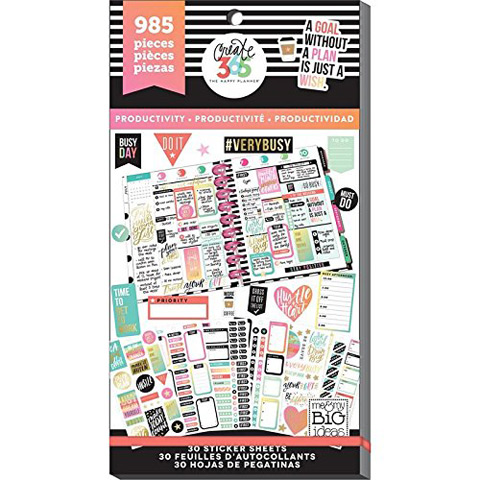 The Happy Planner Productivity Stickers: 985PK