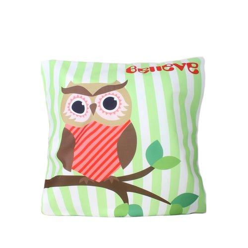 Zoomie Kids Hinkson Owl Print Throw Pillow