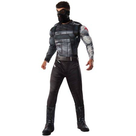Marvel's Captain America: Civil War Winter Soldier Deluxe Muscle Chest Men's Adult Halloween Costume, One Size - Captain America Winter Soldier Costume For Sale