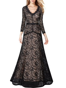 d906dd4756 Product Image MIUSOL Women's Vintage Lace Long Maxi Formal Evening  Bridesmaid Dresses Wedding Cocktail Party Dresses for Women