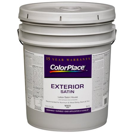 Colorplace exterior satin paint white - Exterior white gloss paint image ...