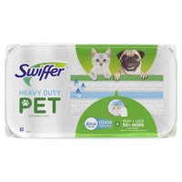 Swiffer Sweeper Heavy Duty Pet Wet Refills, Febreze Odor Defense, 10 Ct