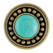 Ginger Snaps Sunburst Turquoise Antique Brass Snap SN29-25