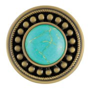 Ginger Snaps Sunburst Turquoise Antique Brass Snap SN29-25