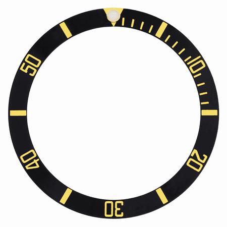 BLACK GOLD TT BEZEL INSERT ALUMINUM FOR ROLEX SUBMARINER 16610 16610 LV 16613