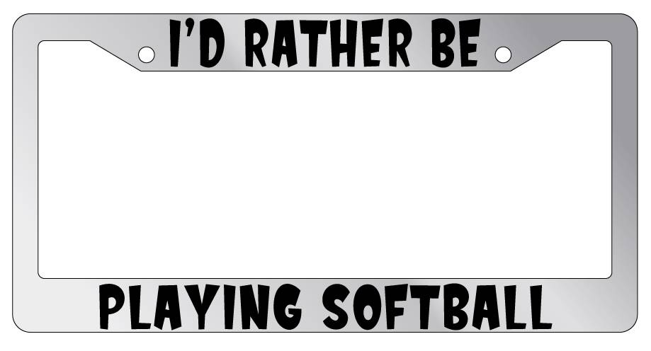 I/'d Rather Be Playing Tennis Chrome License Plate Frame