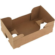 Paperboard Pop Up Food and Drink Stadium / Theater J-Type Tray - 25 Pieces