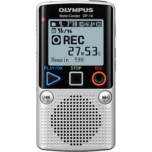EVGA Olympus DP-10 Digital Voice Recorder 142640 (Silver)