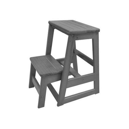 Gracie Oaks Levi Folding 2 Step Wood Stool With 200 Lb Load Capacity