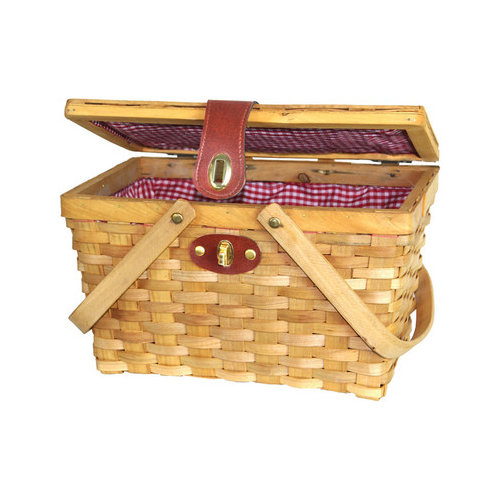 Quickway Imports Chipwood Picnic Basket
