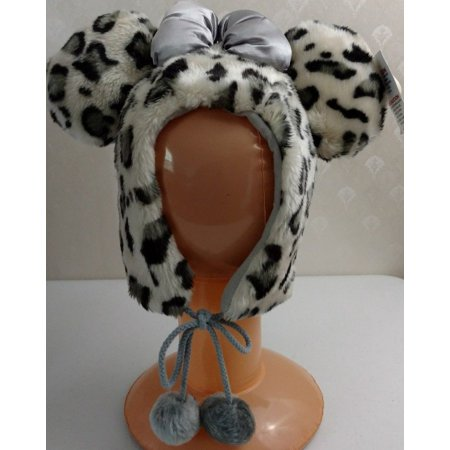 Cheetah Ears (DISNEY PARKS Minnie Mouse Ears Cheetah Faux Fur Warm Hat Adult One Size)