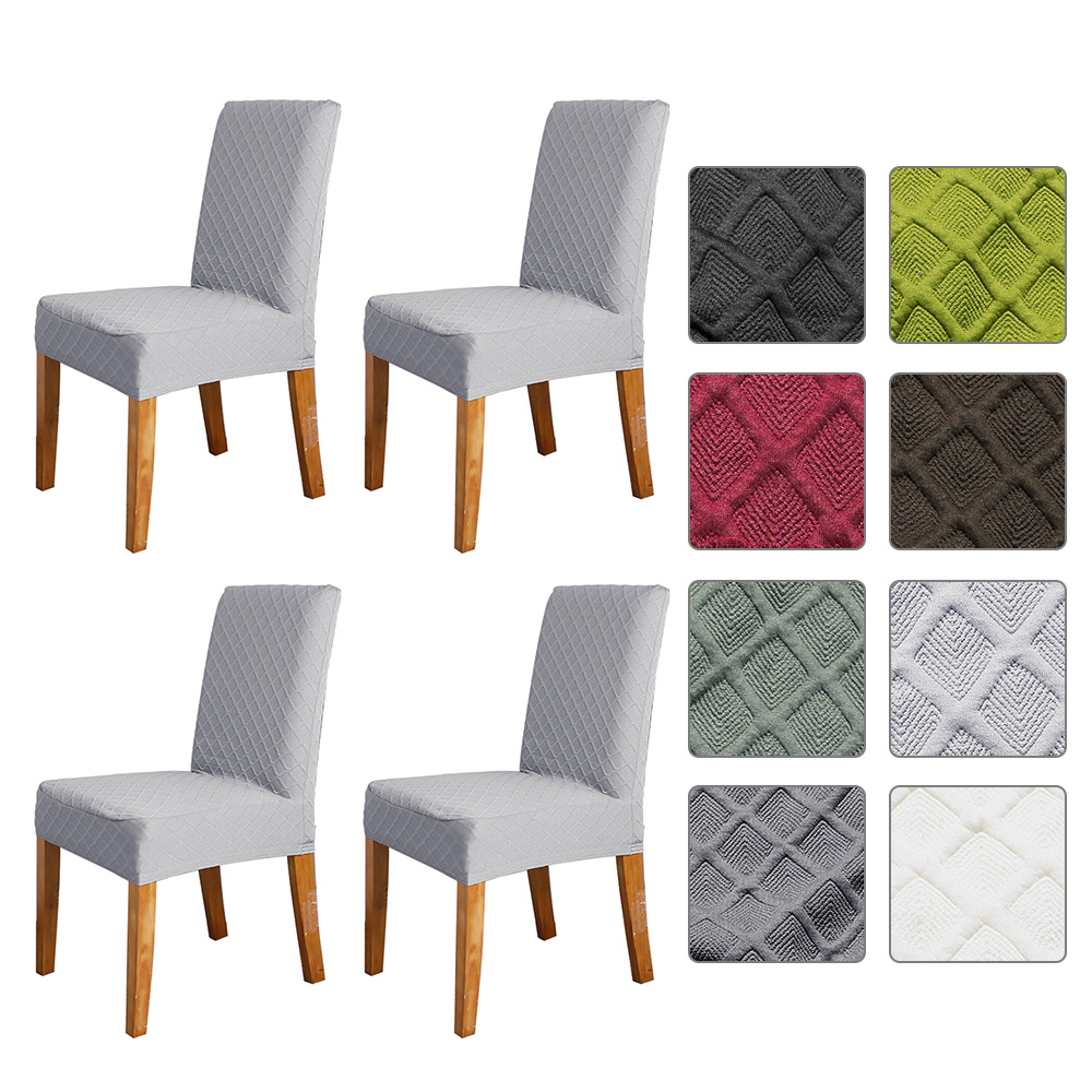 Stretch Solid Diamond Lattice Dining Chair Cover Slipcover ...