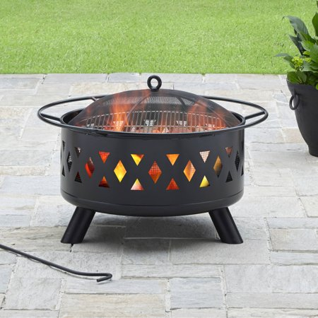 "Better Homes & Gardens 28"" Lattice Heavy Duty Fire Pit"