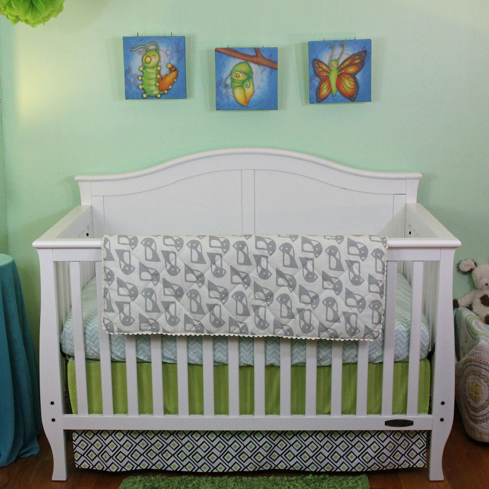 Lolli Living Quilted Penguin 3 Piece Baby Bedding Crib Set