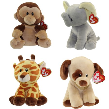 Baby TY - SET of 4 ANIMALS (Gracie, Bubbles, Banana, Bumpkin)(Regular Size - 7 inch)