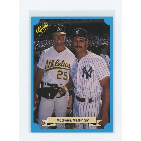 1988 Classic Blue #MMDM Mark McGwire w/ Don Mattingly Rookie Card - Mark Mcgwire Insert