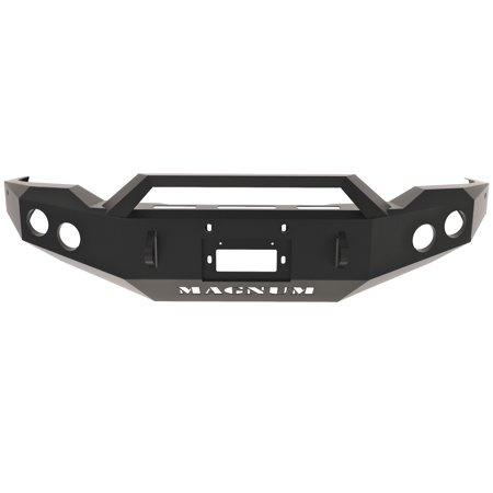 - ICI (Innovative Creations) FBM08TYN-RT Magnum Front Bumper; Double 4 in. Round; Incl. RT Series Light Bar; Optional Skid Plate Sold Separately;