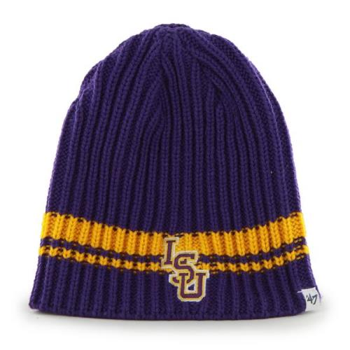 LSU Tigers 47 Brand NCAA Ontario Cuffless Knit Hat by 47 Brand