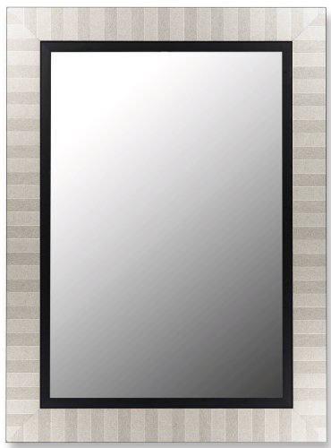 "Parma Silver Mirror with Satin Black Liner-Size:26"" x 62"" by Hitchcock Butterfield"