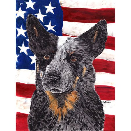 USA American Flag with Australian Cattle Dog Flag