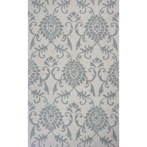 KAS Rugs Marbella Hand-Hooked Ivory/Gray Area Rug