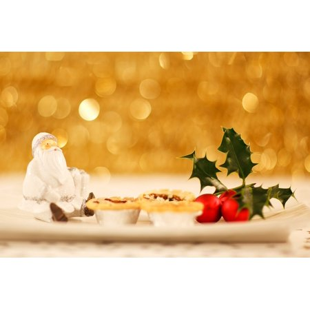 Decorate Cubicle For Christmas (Framed Art for Your Wall Claus Background Christmas Decoration Decorated 10x13)