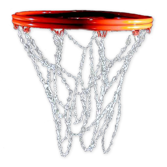 Standard Chain Basketball Net with S-Hooks