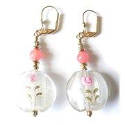 Palmtree Gems Joleen' Lampworked Glass Dangle Earrings