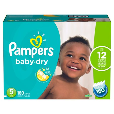 Pampers Baby-Dry Disposable Diapers Size 5, 160 Count,