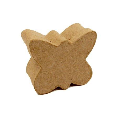 PA Paper Mache Box Butterfly Mini Kraft