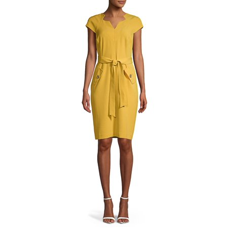 Belted Sheath Dress](Lord And Taylor Dresses Clearance)