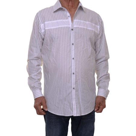 INC International Concepts Men's White Striped Casual Shirt Size (International White Male Day)