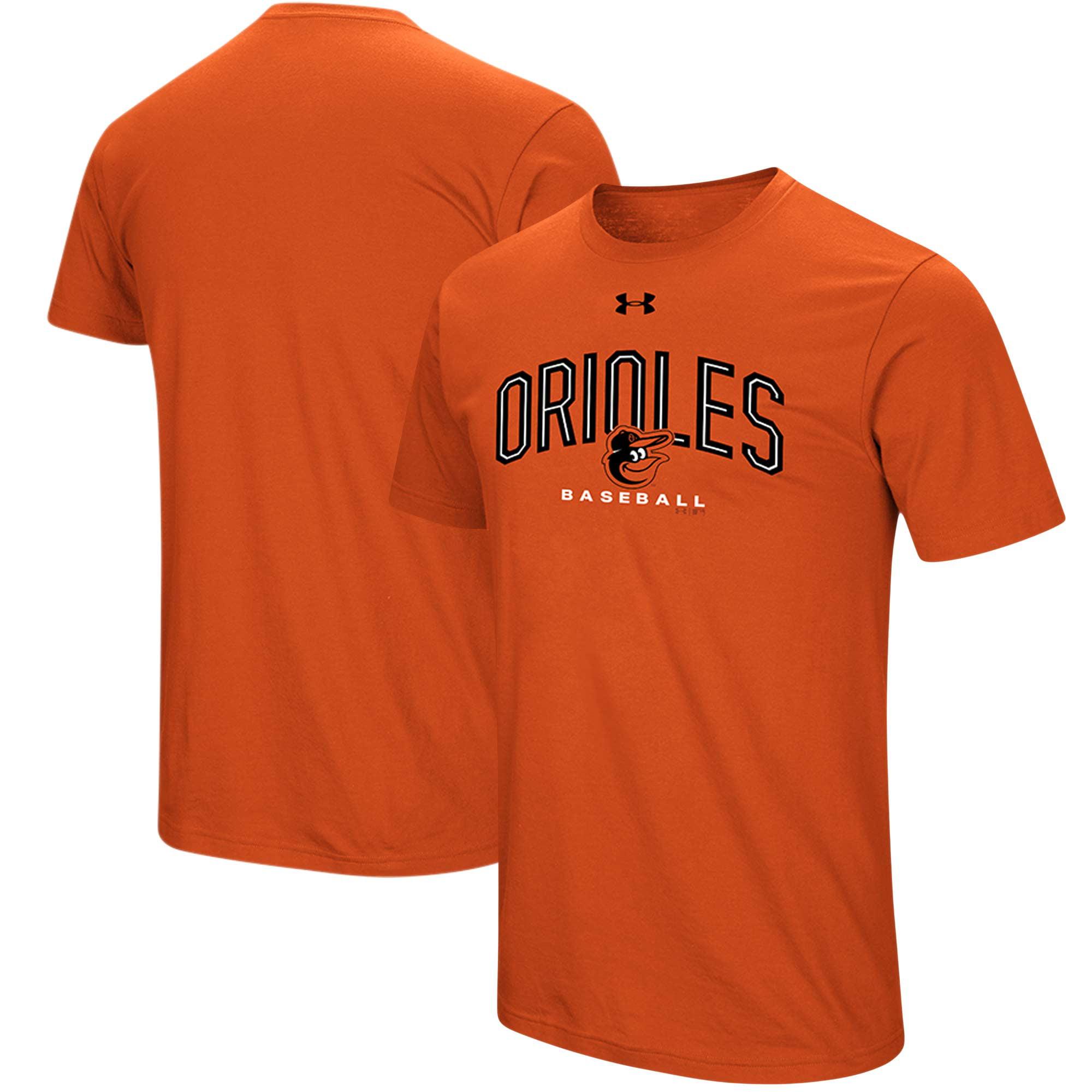 Baltimore Orioles Under Armour Performance Arch T-Shirt - Orange
