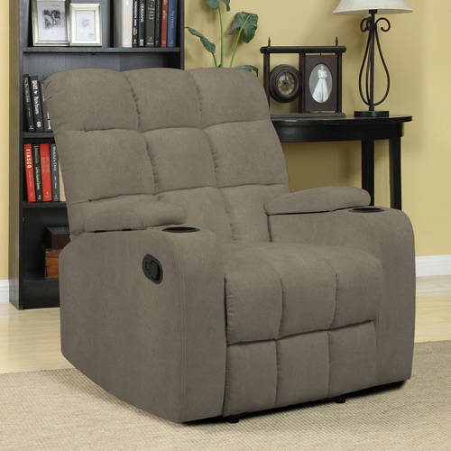 Mainstays Tyler Arm Storage Hugger Wall Recliner Chair Multiple Colors