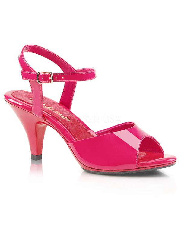 """Hot Pink Pat/Hot Pink Fabulicious Shoes 3"""" Belle Size: 6"""