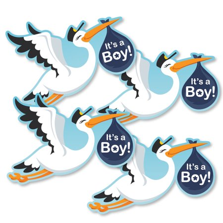 Boy Special Delivery - Decorations DIY Blue It's A Boy Stork Baby Shower Party Essentials - Set of (Special Delivery Stork)