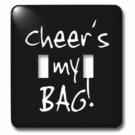 3dRose Cheer is my Bag. Cheerleader Cheerleading fan or Cheer mom parent text - Double Toggle Switch](Cheerleader Bags)