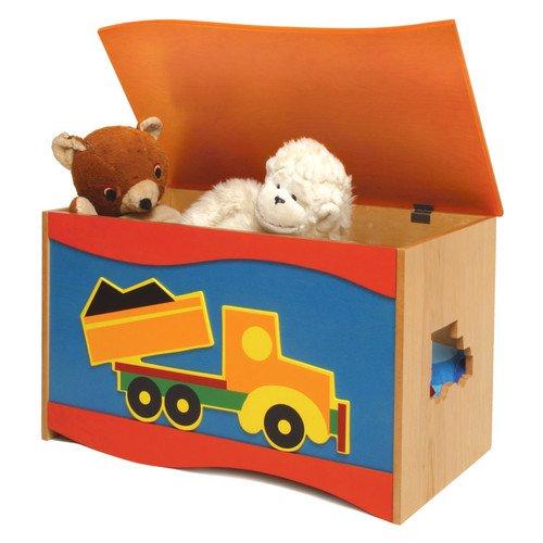 Walmart Toy Chests For Boys : Room magic boys like trucks toy box walmart