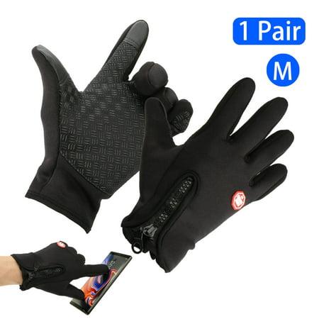 Touchscreen Gloves, EEEKit Unisex Winter Warm Touchscreen Gloves Windproof Waterproof Outdoor Sports Fleece Gloves for Cycling Running Hiking Climbing Skiing