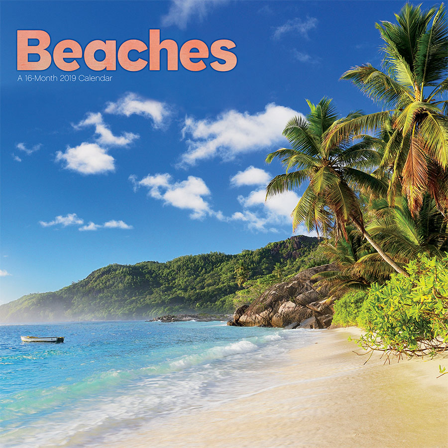 2019 Beaches Wall Calendar by Trends International