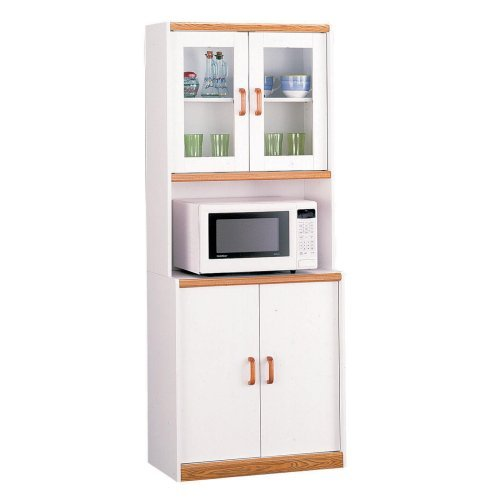 Cabinet with Glass Door Hutch