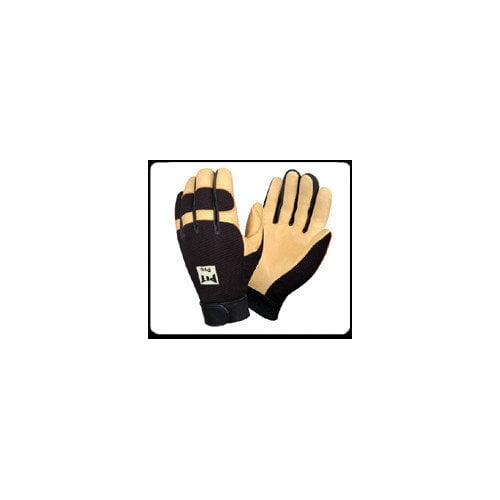 Cordova Pit Pro Mechanics Style Premium Deerskin Leather Gloves in Black - Large