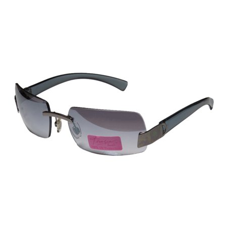 - New Thalia 03 Womens/Ladies Square Rimless Mirrored Gunmetal / Gray Gorgeous Trendy Modern Fashion Accessory Shades Sunnies Frame Mirrored / Gradient Gray Lenses Sunglasses/Sun Glasses