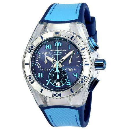 Technomarine Unisex TM-115014 Cruise California Quartz Chronograph Blue, Light Blue Dial Watch